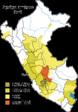 Zonas donde se ha registrado actividad de Sendero Luminoso