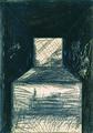 """""""Gehäuse"""", Graphit und Farbe auf Papier, 1976.jpg"""