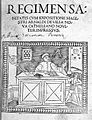 """Regimensa sanitatis..."", 1500; title page Wellcome L0007339.jpg"