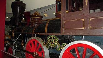 "The Texas (locomotive) - ""Texas"" displayed in the Cyclorama."