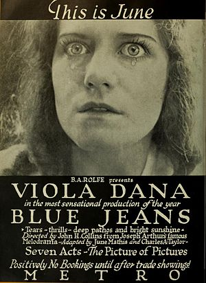 Blue Jeans (1917 film) - Advertisement for film