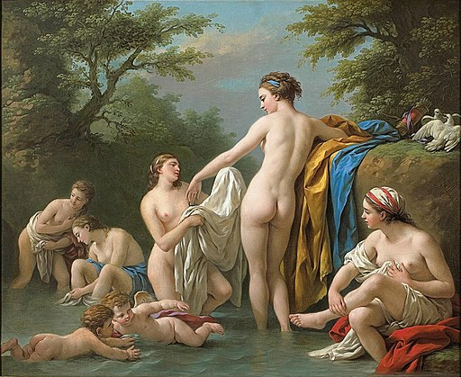 'Venus and Nymphs Bathing', a painting by French artist Louis Jean-Francois Lagrenee
