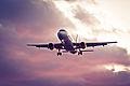 (A) Avión en Atardecer (6680810831).jpg