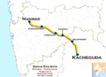 (Manmad - Kacheguda) Passenger train route map.png
