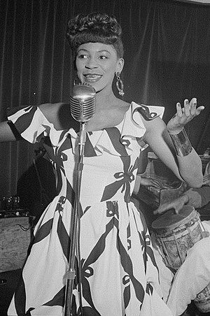 Haitian Americans - Image: (Portrait of Josephine Premice, Village Vanguard, New York, N.Y., ca. July 1947) (LOC) (5436422514) (cropped)