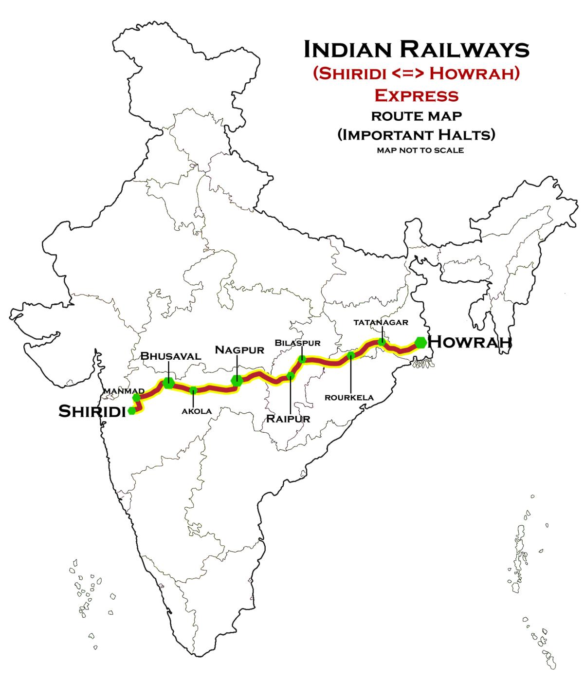 Sainagar Shirdi-Howrah Express - 350.6KB