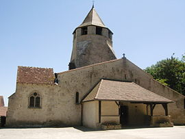 The church in Louchy-Montfand
