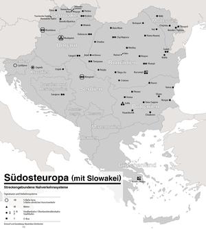 Rail transport in Romania - Image: ÖPNV Systeme in Südosteuropa