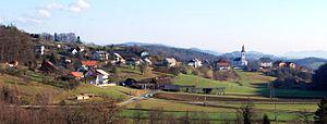 Čatež, Trebnje - View of Čatež from Razbore