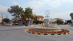 Trikomo, Cyprus - The main square in Trikomo