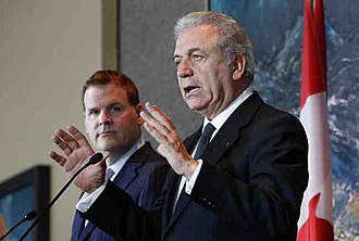 Canada–Greece relations - Canadian Foreign Minister John Baird and Greek Foreign Minister Dimitris Avramopoulos; 2013