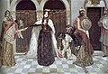 В. Суренянц. Возвращение царицы Запел на престол, 1909.jpg