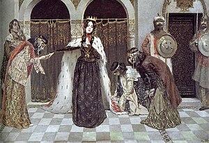 Isabella, Queen of Armenia - Queen Zabel's return to the throne, Vardges Sureniants, 1909