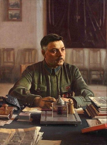 File:Исаак Бродский - Портрет Климента Ворошилова в кабинете - 1929.jpg
