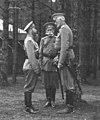 Николай II, В. Б. Фредерикс и великий князь Николай Николаевич в Ставке.jpg