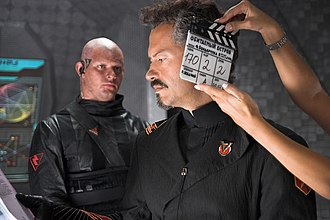 Russian science fiction and fantasy - Director Feodor Bondarchuk at the set of The Inhabited Island, the most expensive Russian sci-fi film at the time. Bondarchuk also directed the highest-grossing Russian sci-fi film, Attraction