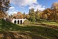 Ораниенбаум. Верхний парк осенью. Вид на Петровский мост и долину реки Карасты.jpg