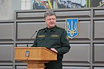 Президент України Петро Порошенко привітав молодих офіцерів з випуском 3010 (16757394328).jpg