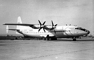 Antonov An-10 four-engined turboprop airliner