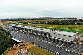Prokshino (Moscow Metro) - Image: Строительство станции метро «Прокшино» Сокольнической линии (август 2018)