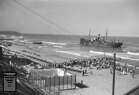 אנית המעפילים פאריטה מול חופי תל אביב, 1939
