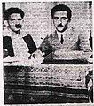 בקונגרס הציוני ה-20 יושבים ליד שולחן עם מפה Berl Katznelson, Moshe Sharett at th-119.jpeg