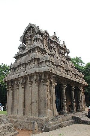 """Ganesha Ratha - Image: """"Aesthetic stone work of Rock Cut Ganesha Temple at Mamallapuram"""""""