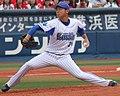横浜DeNAベイスターズ投手の今永昇太。横浜スタジアムにて。.jpeg