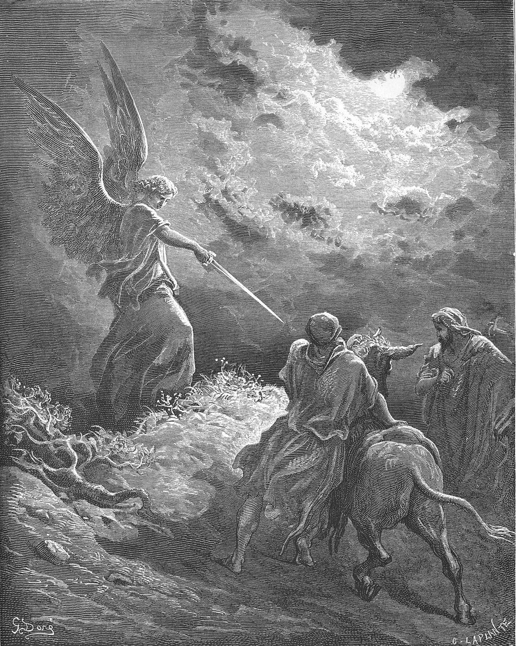 발람에게 나타난 천사 (귀스타브 도레, Gustave Doré, 1866년)