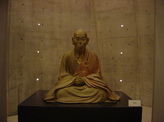Kanjin - Chōgen in replica at Osaka Prefectural Sayamaike Museum.