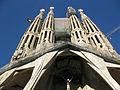 084 Sagrada Família, façana de la Passió i torres.jpg
