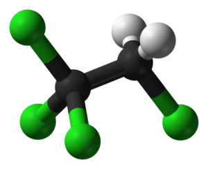 1,1,1,2-Tetrachloroethane - Image: 1,1,1,2 Tetrachloroethane 3D balls