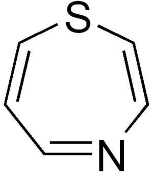 1,4-Thiazepine - Image: 1,4 thiazepine