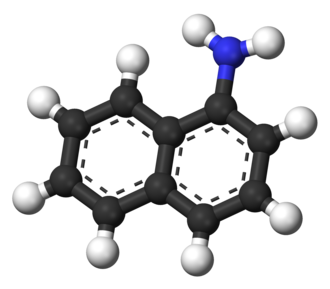 1-Naphthylamine - Image: 1 Naphthylamine 3D balls