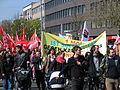 1. Mai 2013 in Hannover. Gute Arbeit. Sichere Rente. Soziales Europa. Umzug vom Freizeitheim Linden zum Klagesmarkt. Menschen und Aktivitäten (165).jpg