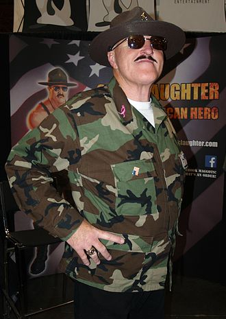 Sgt. Slaughter - Sgt. Slaughter at the 2013 New York Comic Con