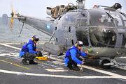 100308-N-4774B-056 - Argentine Navy Alouette III on USS Bunker Hill