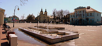 Aleksandrów Łódzki - Kościuszko Square in Aleksandrów Łódzki