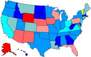 United States House of Representatives elections, 1990 - Image: 102 us house membership