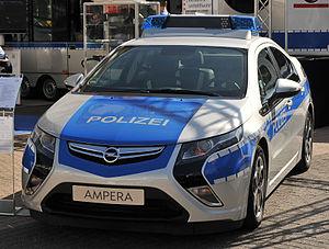 Hesse State Police - A Opel Ampera patrol car