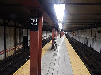 Central Park North–110th Street (IRT Lenox Avenue Line) - Image: 110th Street Central Park North Station