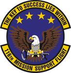 116 Mission Support Flt emblem.png
