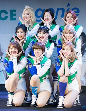 """Cheer Up (song) - Twice performing """"Cheer Up"""" in May 2016"""