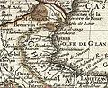 1724 De L'Isle Map of Persia (Iran, Iraq, Afghanistan) - Geographicus - Persia-delisle-1724 (Talish region).jpg