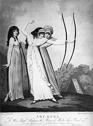 Adam Buck - Image: 1799 pinup print archers Adam Buck unbound hair