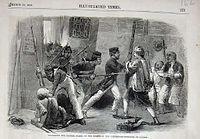 Des militaires britanniques attaquent les gardes chinois en 1858.