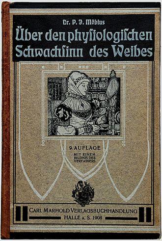 """Paul Julius Möbius - Front cover of """"Über den physiologischen Schwachsinn des Weibes"""" (9th edition, 1908)"""