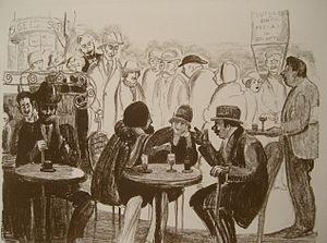 Mabel Dwight - Mabel Dwight, Boulevard des Italiens (Café, Boulevard de Italiens), 1927, lithograph, 24.6 × 32.4 cm, edition of 12