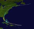 1945 Atlantic hurricane 9 track.png