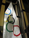1952 Oslo Winter Olympic flag.jpg